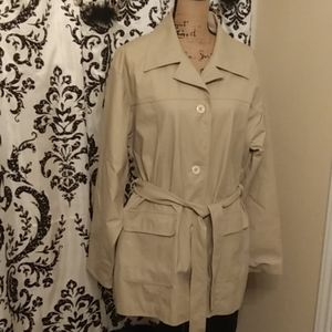 Fully lined Leather coat